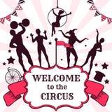 Circus performance advertisement Stock Photo