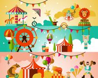 Circus performance background Stock Photo