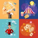 Circus performance magic show circus tent set Stock Photos