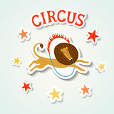 Circus performance sticker style illustration Royalty Free Stock Images
