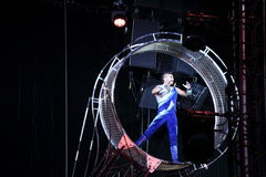 Circus performer. S at Ringling Brothers Barnum and Bailey circus, Des Moines, Iowa, October 2015 Stock Photos