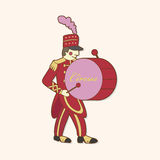 Circus performer theme elements vector,eps. Vector illustration file Royalty Free Stock Photography