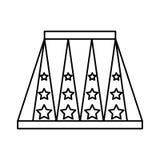 circus podium isolated icon Stock Images