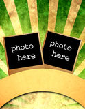 Circus poster. Grunge circus poster with photo frames Stock Images