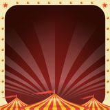 Circus Poster Vector. Circus Tent Background. Amusement Park Party. Holidays Events And Entertainment Concept. Circus Poster Banner Vector. Vintage Magic Show vector illustration