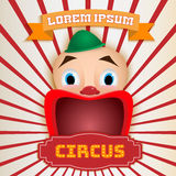 Circus poster, Magic show royalty free illustration