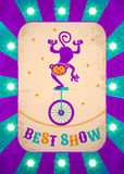 circus poster with monkey Stock Images