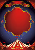Circus poster night Stock Images