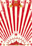 Circus poster red sunbeams royalty free stock photography