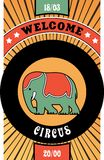 Circus poster Royalty Free Stock Images