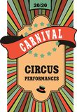 Circus poster Royalty Free Stock Photo