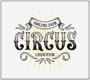 Circus Poster. Vector lettering Stock Photography