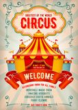 Circus reclameaffiche stock illustratie