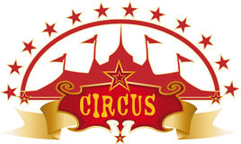 Circus red design Royalty Free Stock Image