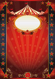 Circus red and night fantastic poster Royalty Free Stock Photo