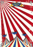 Circus red sunbeams. A circus retro background with a texture for your poster Stock Images