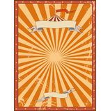Circus red vintage background for a poster Stock Images