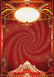 Circus red vortex background Royalty Free Stock Photos