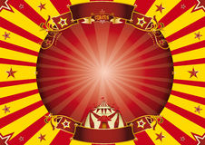 Circus red and yellow horizontal background Stock Photography