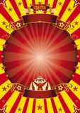 Circus red and yellow Stock Photos