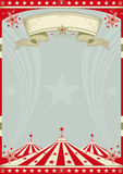 Circus retro big top. A retro circus background for a poster Royalty Free Stock Photos