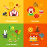 Circus retro icons composition Stock Photo