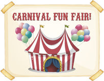 Circus retro poster. Retro style carnival tent poster Stock Image
