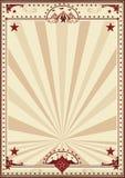 Circus retro poster sunbeams Stock Photo