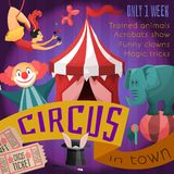 Circus retro poster Royalty Free Stock Images