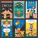 Circus retro posters Royalty Free Stock Photography