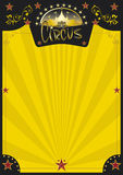Circus retro yellow poster. A new circus poster for your entertainment Royalty Free Stock Photography