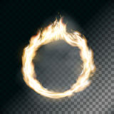 Circus ring on fire. Texture of flame on transparent background. Stock  illustration Stock Photo