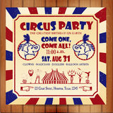 Circus sat. Birthday card with Circus Ticket. Vector illustration Royalty Free Stock Images