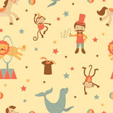 Circus seamless background Stock Photos