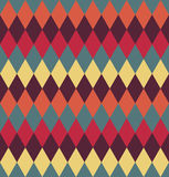 Circus seamless background. Color rhombus pattern. Stock Photography