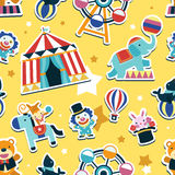 Circus seamless pattern. Animals and entertainment elements Stock Photography