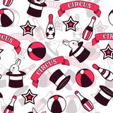 Circus seamless pattern Royalty Free Stock Images