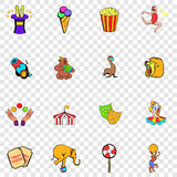 Circus set icons Stock Images