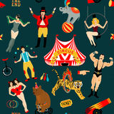 Circus set.  Illustration of circus stars. Royalty Free Stock Photo