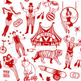 Circus set.  Illustration of circus stars. Royalty Free Stock Photography
