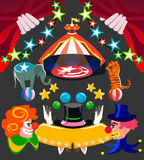 Circus set isolated items and requisite Royalty Free Stock Images