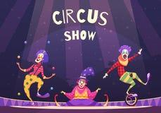 Circus Show Clowns Illustration vector illustration