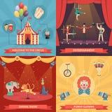Circus Show 2x2 Design Concept vector illustration