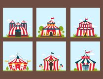 Circus show entertainment tent marquee marquee outdoor festival royalty free illustration