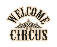 Circus show logo Royalty Free Stock Images