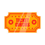 Circus show paper tickets icon, cartoon style Stock Photo