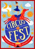 Circus Show Poster royalty free illustration