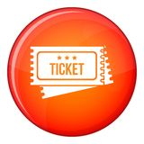 Circus show tickets icon, flat style Stock Images