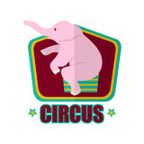 Circus show with trained elephant promotional poster illustration Stock Photo