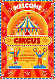 Circus Show Welcome Poster stock illustration